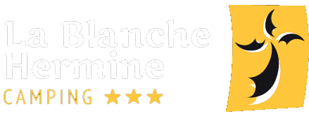 logo camping blanche hermine