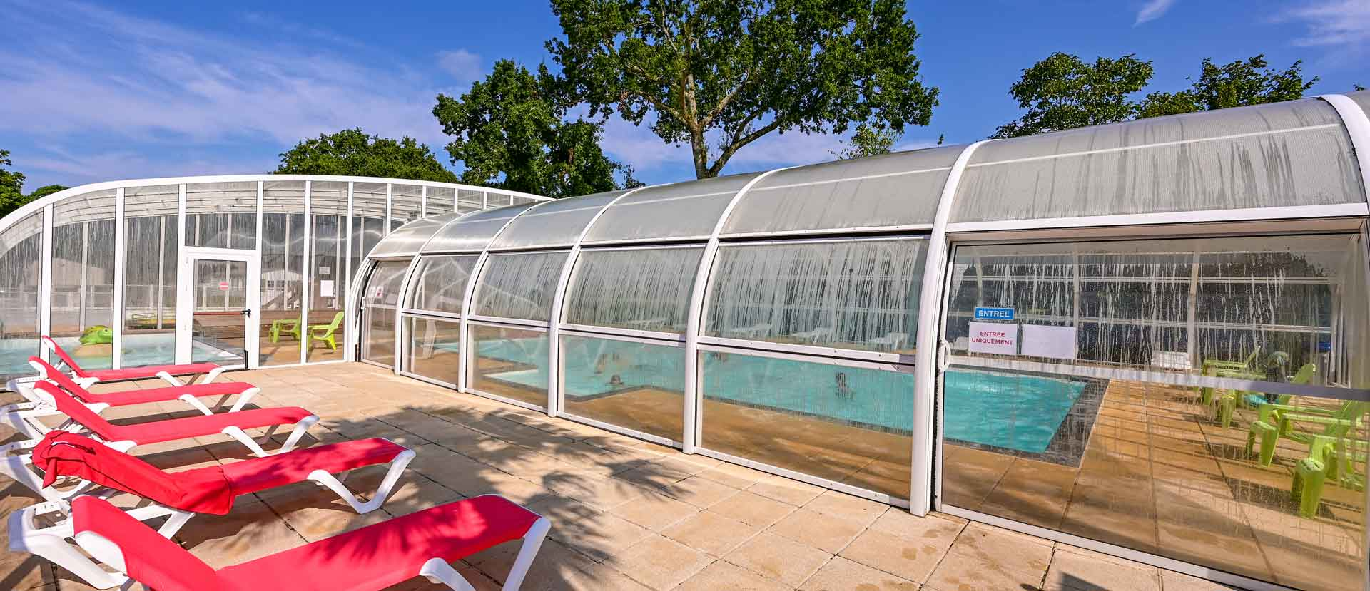 piscine couvert camping proche damgan