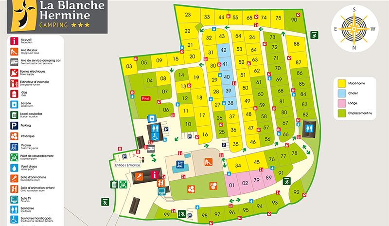 plan camping blanche hermine
